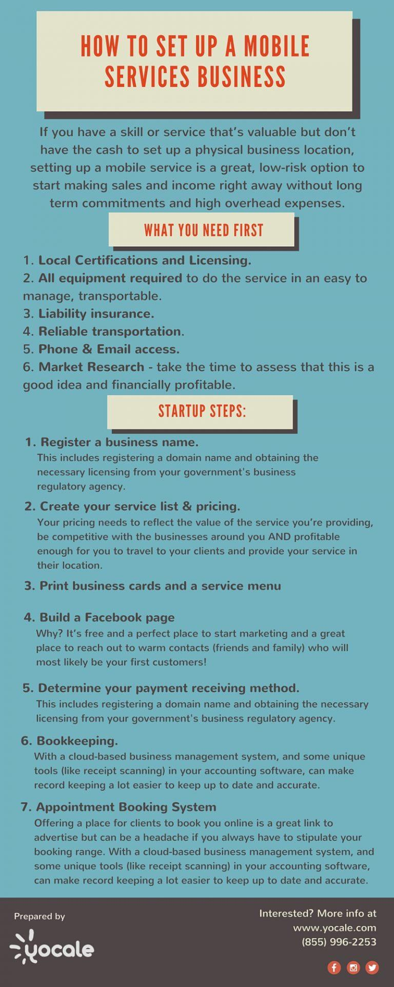 How To Set Up A Mobile Services Business