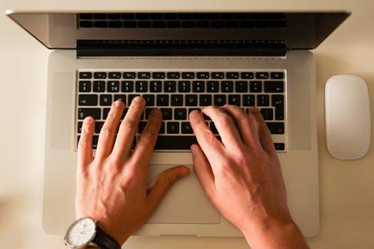 computer typing