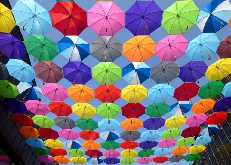umbrellas color